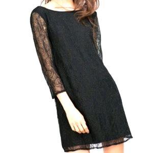 Zara back less beaded lace dress